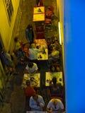 Tavira街道 algarve葡萄牙 库存图片