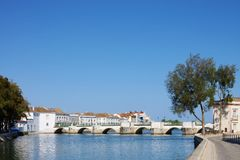 Tavira bridge Royalty Free Stock Image