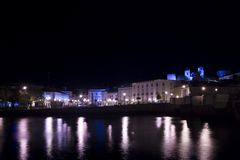 Tavira city by night Stock Photos
