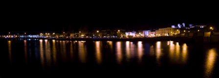 Tavira city by night Stock Photo
