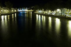 Tavira city by night Stock Photography