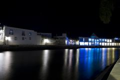 Tavira city by night Royalty Free Stock Photography
