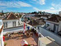 Tavira starzy grodzcy dachy, Algarve Portugalia Fotografia Stock