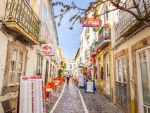 Tavira w Algarve regionie w południe Portugalia Zdjęcie Stock