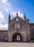 Tavistock Abbey Gatehouse:in Tavistock UK. Stock Photo