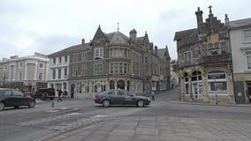 Tavistock England - Februari 11 2015: Tavistock är den huvudsakliga staden av den västra heden för Dartmoor ` s stock video