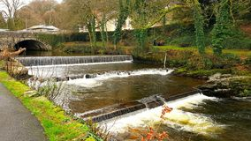 Tavistock River Tavy . Devon on the edge of dartmoor. The Tavy is a river on Dartmoor, Devon, England. The name derives from the Brythonic root ... It has given stock photography