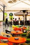 Tavola bagnata della caffetteria Fotografia Stock Libera da Diritti