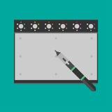 Tavola dei grafici con lo stilo ed il supporto dello stilo Fotografie Stock