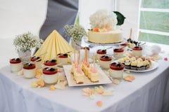 Tavola del dessert Fotografie Stock