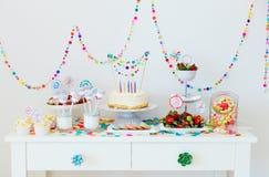 Tavola del dessert al partito Fotografie Stock Libere da Diritti