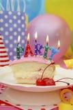 Tavola del partito di buon compleanno Fotografia Stock