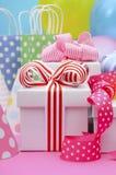 Tavola del partito di buon compleanno Immagini Stock
