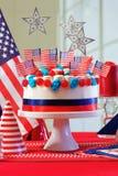 Tavola del partito di celebrazione di festa nazionale di U.S.A. Fotografia Stock Libera da Diritti
