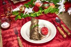 Tavola del partito di inverno Fotografie Stock