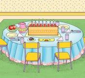 Tavola della festa di compleanno Illustrazione di Stock