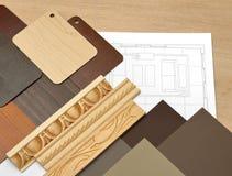 Tavola della progettazione di interior design Fotografia Stock Libera da Diritti