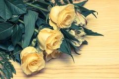 Tavola delle rose Immagine Stock Libera da Diritti