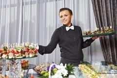 Tavola di approvvigionamento del servizio del cameriere Immagini Stock