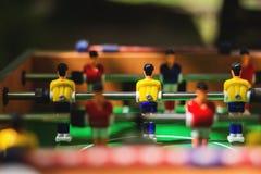 Tavola di calcio Caratteri di sport e del fumetto Fuoco selettivo fotografia stock libera da diritti