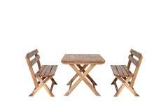 Tavola di legno con la sedia Immagini Stock Libere da Diritti