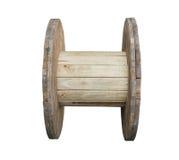 Tavola di legno della bobina di cavo Fotografie Stock