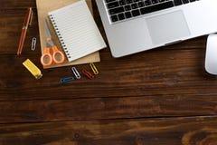 tavola di legno di lavoro Immagine Stock