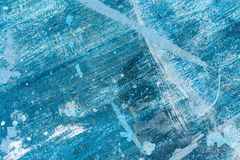 Tavola di legno dipinta variopinta, toni blu-chiaro Fotografia Stock Libera da Diritti