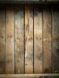 Tavola di legno macchiata e stagionata Grungy Fotografia Stock