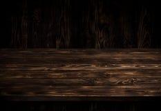 Tavola di legno scura fotografie stock