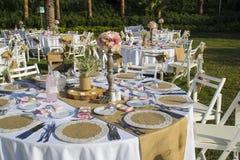 Tavola di nozze, tavola dell'organizzazione, celebrità Fotografie Stock Libere da Diritti