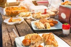 Tavola di picnic Fotografia Stock