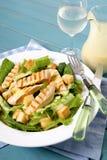 Tavola di picnic dell'insalata di caesar del pollo di estate Fotografie Stock Libere da Diritti