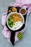 Tavola di prima colazione sana Fotografie Stock