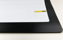 Tavola di programma della tavola del segno immagine stock