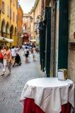 Tavola italiana vuota della barra Fotografia Stock Libera da Diritti