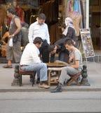 Tavola reale degli uomini su pavimentazione di Costantinopoli Immagine Stock