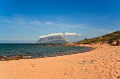 Tavolara海岛照片在撒丁岛 免版税库存图片