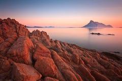 Tavolara海岛,撒丁岛,意大利。 图库摄影