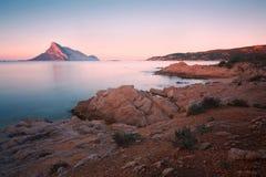 Остров Tavolara, Сардиния Стоковые Изображения RF