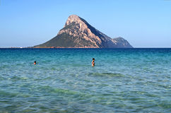Tavolara Island. In Sardinia, summer royalty free stock images