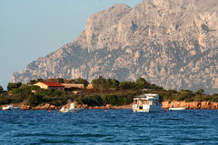 Tavolara Island. View from Porto Istano, Sardinia, in summer royalty free stock photo