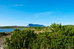 Tavolara - Lu Impostu - Puntaldia. A place near Puntaldia, Porto Cervo and Porto Rotondo Sardegna Italy royalty free stock photo