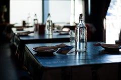 Tavole del ristorante Fotografie Stock Libere da Diritti