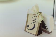 Tavole di numerazione alle nozze Fotografia Stock Libera da Diritti