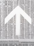 Tavole di riserva del giornale che mostrano il mercato che va su Fotografia Stock