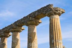 Tavole Palatine. Metaponto. Basilicata. Italien. royaltyfria bilder