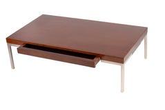 Tavolino da salotto contemporaneo con un cassetto aperto Fotografia Stock Libera da Diritti