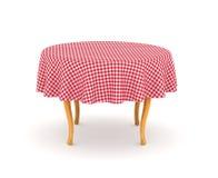 Tavolo da pranzo con la tovaglia royalty illustrazione gratis