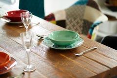 Tavolo da pranzo d'annata Fotografia Stock Libera da Diritti